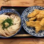 141536593 - 鶏天ぶっかけうどんW (*´-`) 別皿
