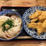 141536600 - 鶏天ぶっかけうどんW (*´-`) 別皿