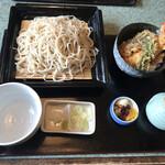 手打ちそば 彩月 - 料理写真:平日ランチ・せいろ(大)+小天丼・税込1,200円