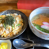 くら川 - 料理写真:親子丼とミニうどん+きつね