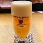 魚菜 基 - ビールはもちろんマスターズドリームの生。 サントリーによるサーバー教育が必須のビールです