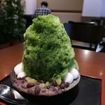 mejiroshimura - かぶせ茶ミルク金時 白玉トッピング