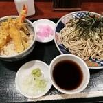 麺房 八角 - ミニ天丼セット