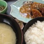 すし松 - ランチの「さば味噌」。お寿司屋さんのさばだけあって、今迄で1番美味いサバ味噌でした(^^)