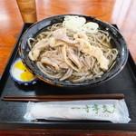 一寸亭 支店 - 冷たい肉そば650円