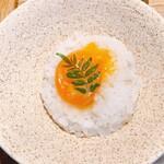 Kyoutoshijoukuwon - 西京味噌漬け卵黄が乗った麦ご飯①