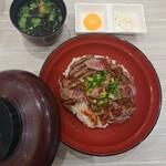 141561483 - 黒毛牛のステーキ丼 1,280円+税
