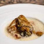 樹癒え - 甘鯛と広島宮島産牡蠣 蛤たっぷり貝エッセンスと柚子のソース