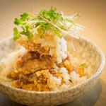居酒屋ブンカ - 鶏の唐揚げ ~香味野菜と柚子ポン酢で~