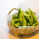 居酒屋ブンカ - 枝豆の塩茹で