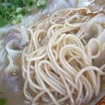 一九、ラーメン - 麺は細麺ストレート。ボソッとした麺です。
