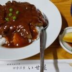田舎洋食いせ屋 - 特製カツ丼(1320円)