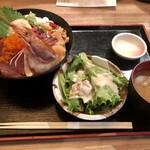 初代築地 魚義 - 魚義丼セットの全景