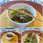 クリマ ディ トスカーナ - ポッリエパターテ 南部太ネギ ウナギ肝 赤ワイン煮 ローズマリーの香りも爽やかに、熊本県産の鰻の肝の苦みを、青森県産の南部太ネギの糖度の高い甘味で包み込んでいます♪
