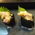 丸八寿司 - つぶ貝!!コリコリで美味し^^
