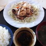 お食事処 すむばり - ②タコ炒め定食@¥800-