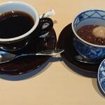楓川 - 食後、ぜんざいとコーヒー