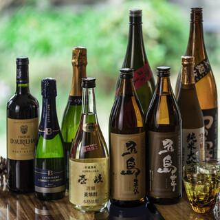 長崎の豊かな自然が育んだ、厳選焼酎と地酒◎