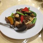 Ichiraku - 牛肉と季節野菜の黒胡椒炒め