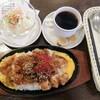 神野喫茶店 × JINNO COFFEE - 料理写真:鉄板味噌カツ丼セット
