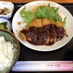 一膳 - 味噌かつ定食(700円)