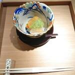 141632057 - 雲丹(北海道)、ボタン海老、天狗なすにジュレソース