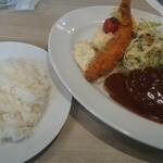 ビフテキのHibio スエヒロ - A定食(ハンバーグ&エビフライ)