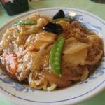 中国料理 西湖 - 五目あんかけ焼きそば(750円)