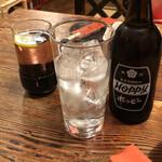 居酒屋 安兵衛 - ホッピーセット(割りもの+焼酎)+ホットビワミン