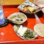 高城庵 - 高城庵セット2の膳(田舎にしめ、香の物、酢の物など)