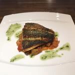 ル・シャタン - 202011  白身魚のポワレ バジルソース(クロダイ)
