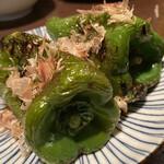 とりのとりこ - ピーマン丸焼き(2ヶ¥300)