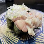 回し寿司 活 活美登利 - 白子軍艦@310円