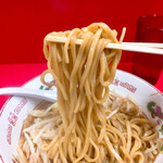 赤ひげラーメン - 麺は二郎というより稲庭うどんの様に細め