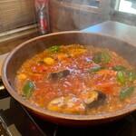jingiskan 盆賊衆 - 料理写真:トマトジンギスカンからのトマトパスタ