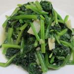 普天河 - ほうれん草の炒め物