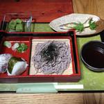 翠峰荘 - 料理写真:納涼定食 - 鮎の塩焼きがついて980円!