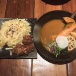 スープカレー KIFUKU - ザンギ&あぶりチーズの10品目野菜スープカレー 1,450円(税抜)