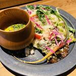 ワインショップ&ダイナー FUJIMARU - 見た目が綺麗し 野菜が美味しい