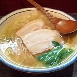 烈志笑魚油 麺香房 三く - 「白壺ラーメン」です