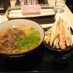 141698765 - 肉ごぼううどん、ごぼうの天ぷらは別皿