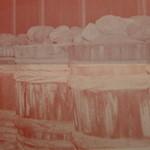 桜井味噌店 - 醸造風景(お店のパンフを接写)