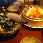 Sumibiwashokuso - トマトとモッツァレラの揚げ出し 野菜のせいろ蒸し