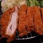 tonkatsutowashokunomisechouhachi - 上ロースかつの断面