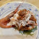 浜貞 - 香箱蟹(甘海老付き)1杯1,350円