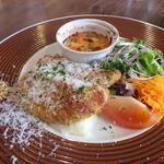 Shirakabekurabu - ササミの香草パン粉焼きランチ