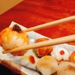 割烹 山部 - 手毬寿司の海老