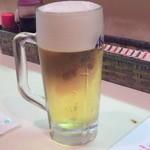 ばんちゃん - ドリンク写真:生ビール・ジョッキ(450円)