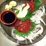 全席個室居酒屋 忍家 - 桜肉の3種盛❗️