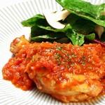 ◆12月限定・要事前予約!~信玄どり骨付きもも~麹トマトほろっほろ煮 1本(3~5人前)